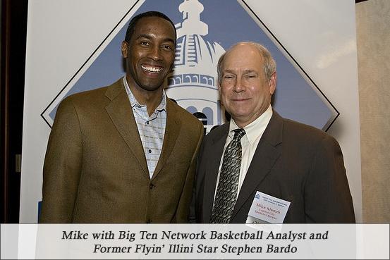 Mike with Big Ten Network Basketball Analyst and Former Flyin' Illini Star Stephen Bardo